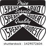 price service quality   retro... | Shutterstock .eps vector #1429072604