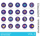merchandising icons including... | Shutterstock .eps vector #1429079921
