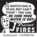 prevent fires   retro ad art... | Shutterstock .eps vector #1429080734