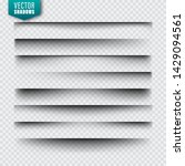 vector shadows set. page... | Shutterstock .eps vector #1429094561