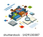 studying foreign languages....   Shutterstock .eps vector #1429130387
