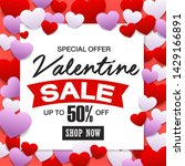 valentines day sale  discount... | Shutterstock .eps vector #1429166891