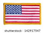 american flag patch isolated on ... | Shutterstock . vector #142917547