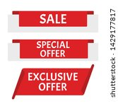 sale banner. sticker or... | Shutterstock .eps vector #1429177817
