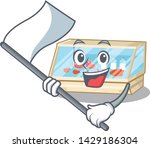 with flag trade counter in the... | Shutterstock .eps vector #1429186304