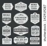 vector vintage sale label set... | Shutterstock .eps vector #142919287