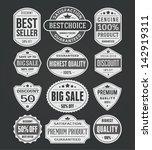 vector vintage sale label set... | Shutterstock .eps vector #142919311