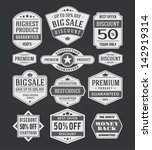 vector vintage sale label set... | Shutterstock .eps vector #142919314