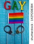 top down image showing gay... | Shutterstock . vector #1429208384