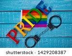 top down image showing pride... | Shutterstock . vector #1429208387