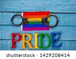 top down image showing pride... | Shutterstock . vector #1429208414
