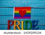 top down image showing pride... | Shutterstock . vector #1429209134