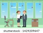 caucasian man and woman... | Shutterstock .eps vector #1429209647