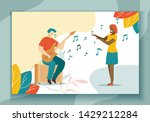 playing guitar hobby and... | Shutterstock .eps vector #1429212284