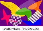 geometric elements memphis pop...   Shutterstock . vector #1429229651