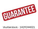guarantee rubber stamp.... | Shutterstock .eps vector #1429244021