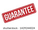 guarantee rubber stamp.... | Shutterstock .eps vector #1429244024