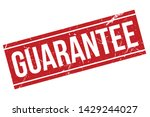 guarantee rubber stamp.... | Shutterstock .eps vector #1429244027
