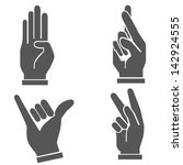 hand set  vector | Shutterstock .eps vector #142924555