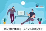 coworking office space and... | Shutterstock .eps vector #1429255064