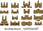 Set Of Vectorized Castles