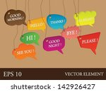 vector talking english bubbles... | Shutterstock .eps vector #142926427