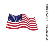 flag american vector icon... | Shutterstock .eps vector #1429265081
