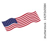 flag american vector icon... | Shutterstock .eps vector #1429265084