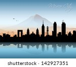 mexico city skyline   vector... | Shutterstock .eps vector #142927351