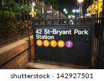 42st   Bryant Park Subway Sign...