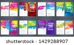 big bundle set of bright vector ... | Shutterstock .eps vector #1429288907