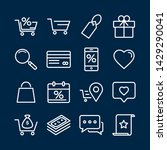 outline icons about shopping.... | Shutterstock .eps vector #1429290041