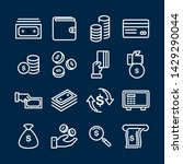 simple set of money related... | Shutterstock .eps vector #1429290044