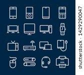 device line icon set. portable... | Shutterstock .eps vector #1429290047
