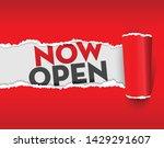 now open paper ripping vector... | Shutterstock .eps vector #1429291607