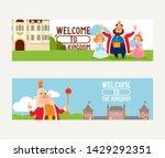 cartoon kingdom vector king... | Shutterstock .eps vector #1429292351
