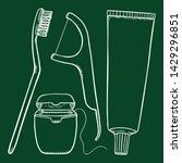 vector set of chalk sketch... | Shutterstock .eps vector #1429296851