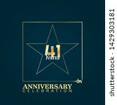 41 years anniversary logo... | Shutterstock .eps vector #1429303181