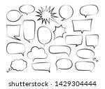 vector set of outline speech... | Shutterstock .eps vector #1429304444