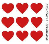 heart love emoji icon object... | Shutterstock .eps vector #1429307117