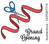grand opening lettering...   Shutterstock . vector #1429307774