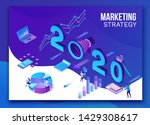 2020 year marketing plan ... | Shutterstock .eps vector #1429308617