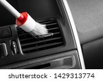 red brush cleaning off dust... | Shutterstock . vector #1429313774