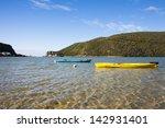 boats on knysna lagoon looking... | Shutterstock . vector #142931401