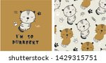 set of cute cat print and...   Shutterstock .eps vector #1429315751