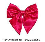 red bow isolate on white... | Shutterstock . vector #142933657