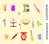 baking tools   Shutterstock .eps vector #142933954