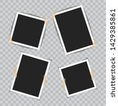 set of realistic photo frames... | Shutterstock .eps vector #1429385861