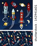 rockets in space | Shutterstock .eps vector #142941601