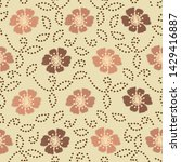 seamless ikat pattern with the...   Shutterstock .eps vector #1429416887